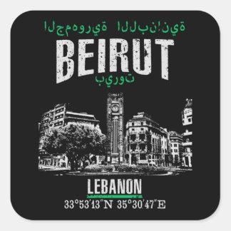 Beirut Square Sticker