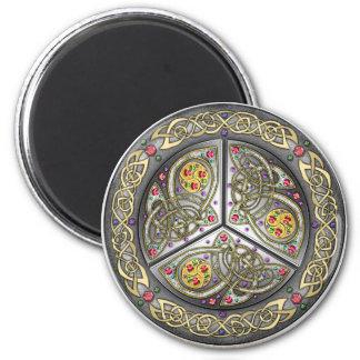 Bejeweled Celtic Shield 6 Cm Round Magnet