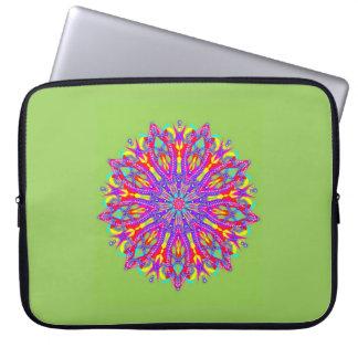 Bejeweled floral medallion laptop sleeve