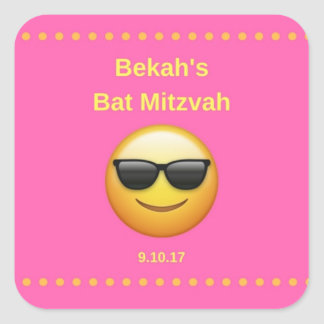 Bekah's Bat Mitzvah Square Sticker