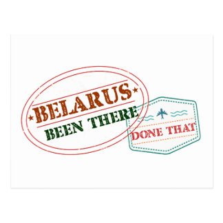 Belarus Been There Done That Postcard