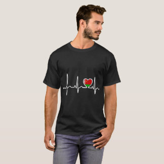 Belarus Country Flag Heartbeat Pride Tshirt
