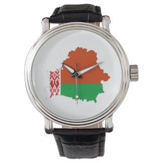 belarus country flag map wrist watch