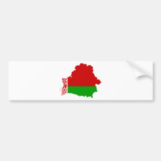 Belarus Flag map BY Bumper Sticker