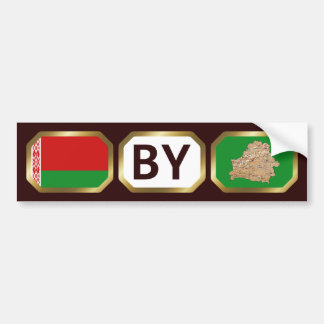Belarus Flag Map Code Bumper Sticker
