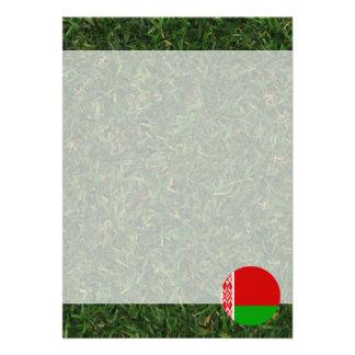 Belarus Flag on Grass 13 Cm X 18 Cm Invitation Card
