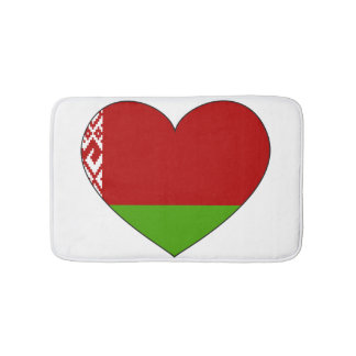 Belarus Flag Simple Bath Mats