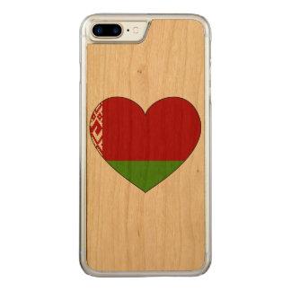 Belarus Flag Simple Carved iPhone 8 Plus/7 Plus Case