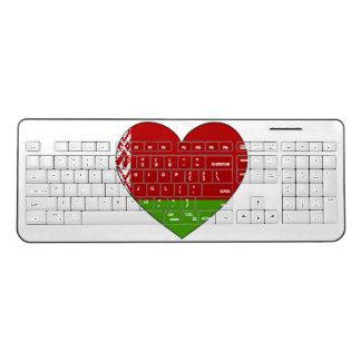 Belarus Flag Simple Wireless Keyboard