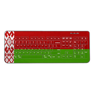 Belarus flag wireless computer keyboard