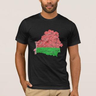 Belarus Flagcolor Map T-Shirt