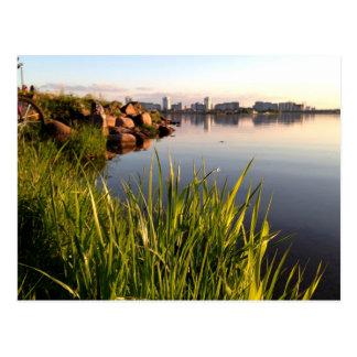 Belarus landscape photograph postcard