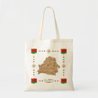 Belarus Map + Flags Bag