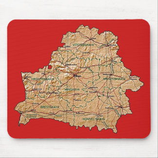 Belarus Map Mousepad