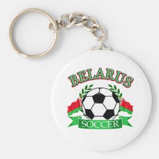Belarus soccer ball designs basic round button key ring