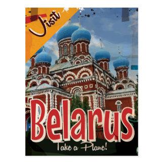 Belarus Vintage Travel Poster Postcard