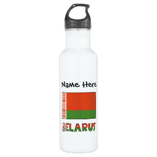 Belarusian Flag and Belarus with Name 710 Ml Water Bottle