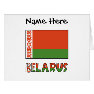 Belarusian Flag and Belarus with Name Card