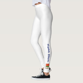 Belarusian Flag and Belarus with Name Leggings
