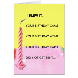 belated birthday card