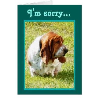"""Belated Birthday"" Card w/Sad Basset Hound"