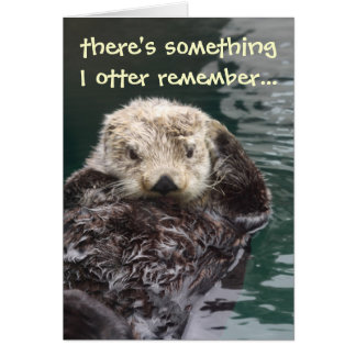 Belated Birthday Otter Greeting Card