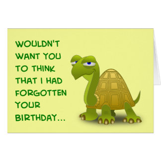 Belated Birthday - PROCRASTINATE Card