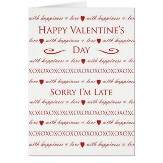 Belated Valentine's Day, Elegant Script Lettering Card