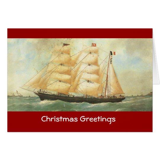 Belem, French Sailing ship, 1902 Card