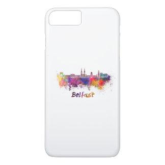 Belfast skyline in watercolor iPhone 8 plus/7 plus case
