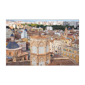 Belfry Micalet and the historical part of Valencia Canvas Print