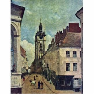 Belfry Of Douai By Corot Jean-Baptiste-Camille (Be Standing Photo Sculpture