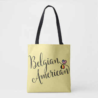 Belgian American Entwined Hearts Grocery Bag