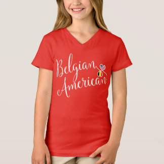 Belgian American Entwinted Hearts Tee Shirt