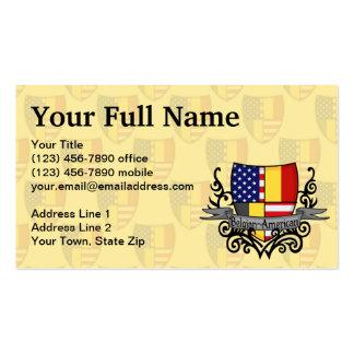 Belgian-American Shield Flag Business Card Templates