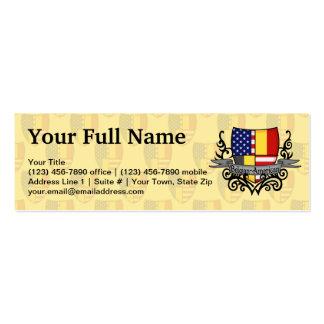 Belgian-American Shield Flag Business Card