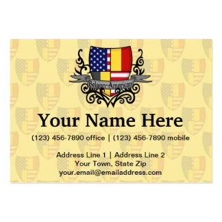 Belgian-American Shield Flag Pack Of Chubby Business Cards