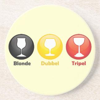 Belgian Beer Icons Drink Coaster