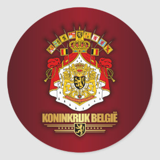 Belgian Coat of Arms 2 Classic Round Sticker
