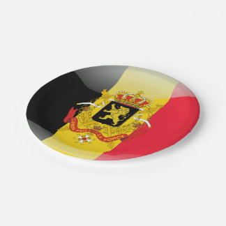Belgian Coat of arms 7 Inch Paper Plate