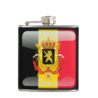 Belgian Coat of arms Hip Flask