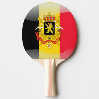 Belgian Coat of arms Ping Pong Paddle