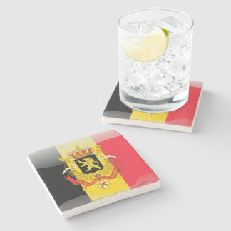 Belgian Coat of arms Stone Coaster