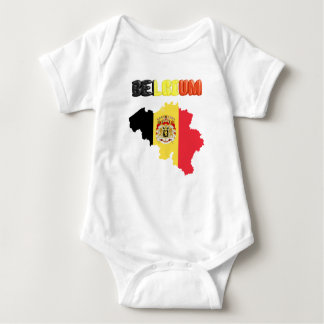 Belgian country flag baby bodysuit