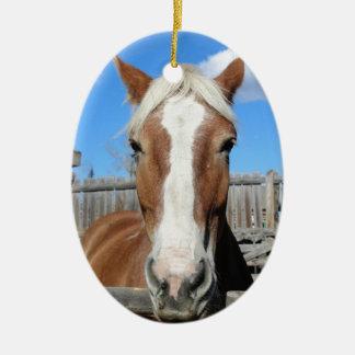 Belgian Draft Horse Ceramic Ornament