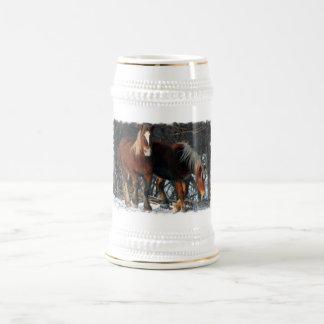 Belgian Draft Horses Beer Stein