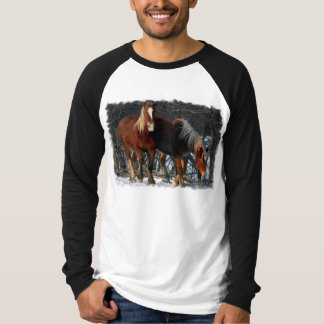 Belgian Draft Horses Men's Long Sleeve T-Shirt