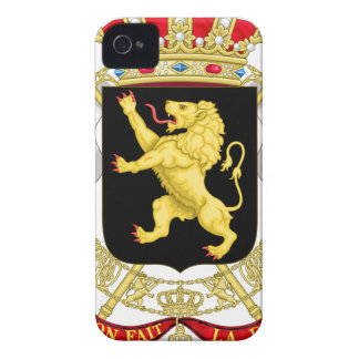 Belgian Emblem - Coat of Arms of Belgium iPhone 4 Case