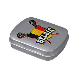 Belgian Flag Lacrosse Logo Jelly Belly Candy Tins
