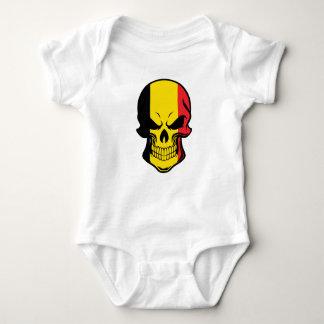 Belgian Flag Skull Baby Bodysuit